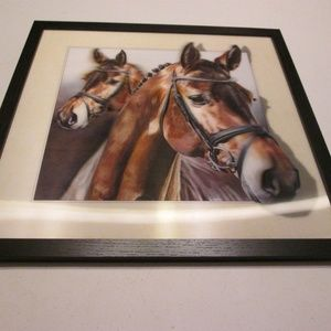 "new 3-D horse picture 16.5"" x 16.5"""
